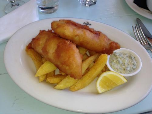 Guess who had fish n chips