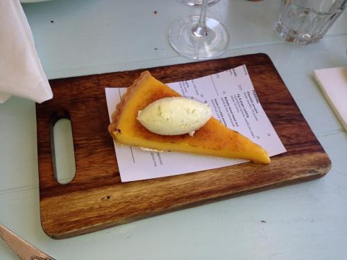 Hard to resist the lemon tart