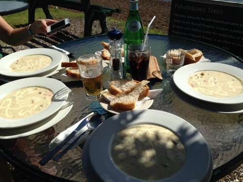 Seafood chowder for 4!